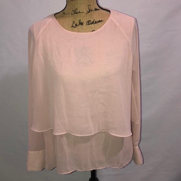 Tops - Dressy Pink Blouse L